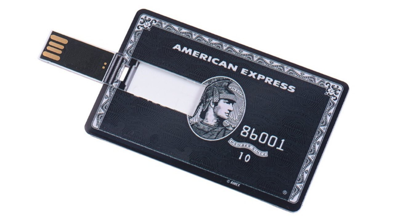 Credit Card Flash Drive - USB Flash Drive 16 GB - External Storage - Easy -Fun -Fast Memory Stick - AMEX Black Card Theme