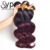 1b 99j Red Color Indian Remy Human Hair Weaving, Micro Bead Weave Hair Extensions