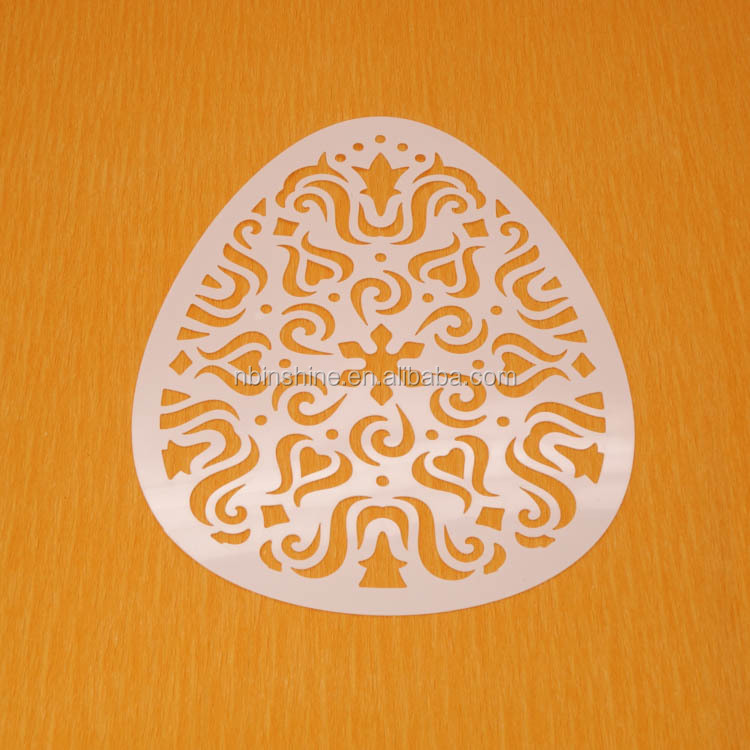 Easter theme pp stencil egg shaped art stencil