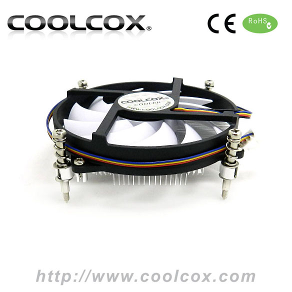 CPU cooler fan for LGA 1150/1155/1156 ,ALUMINIUM HEATSINK 95*95*11T, 95x16mm Fan