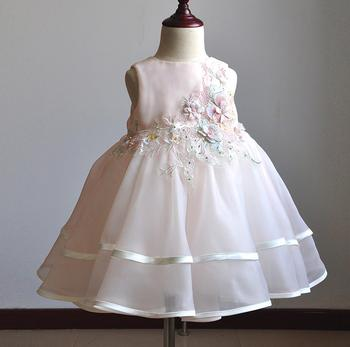9fd4e0ba In Stock Baby Girls First Birthday Puffy Dress Pink Color Lovely Princess  Gwon Dress for 0