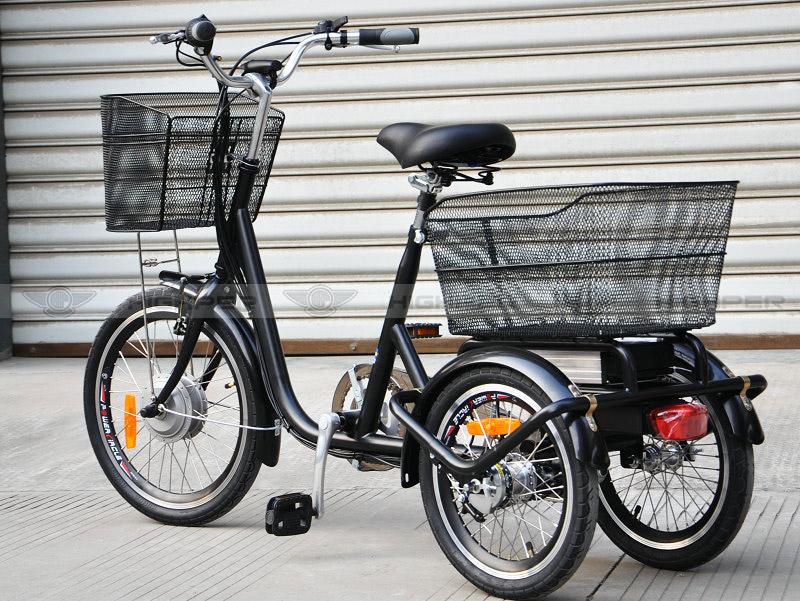 250 w cadre en acier lectrique tricycle adulte 3 roues v lo lectrique el08s v lo. Black Bedroom Furniture Sets. Home Design Ideas