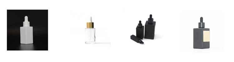 0.5 Oz Rettangolare Opaco di Colore Nero Olio Essenziale Rullo Sulla Bottiglia di Vetro