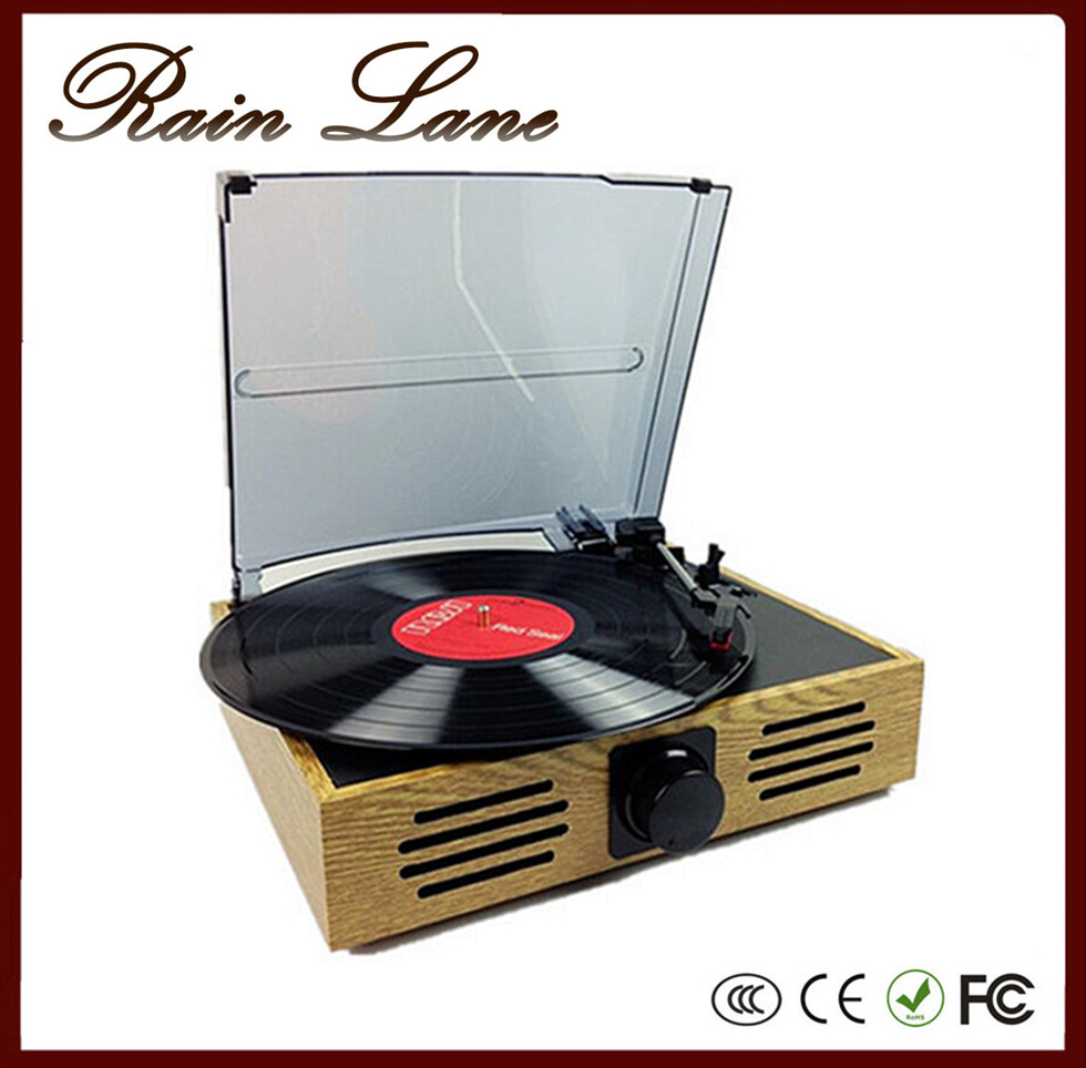 Rain Lane 2016 Hot Sell Turntable With Recording Vinyl Records Production