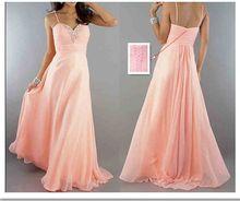 2016 frete grátis! Nova chegada preço barato! Em estoque! 100% qualidade Beading Chiffon rosa vestidos WLF1080