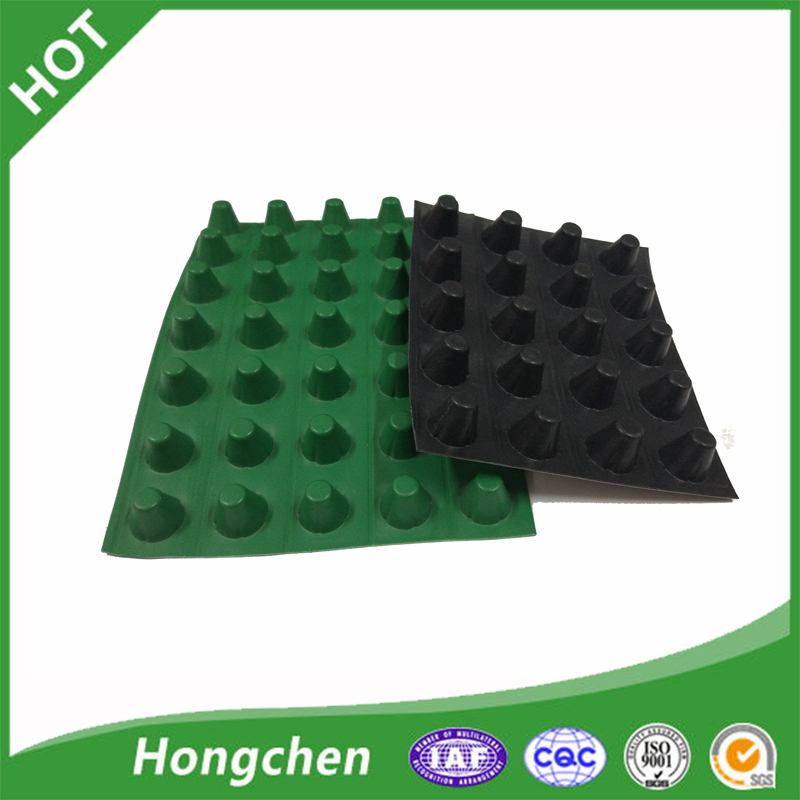 Plastic Green Roof drainage mat Composite Dimpl Drainage Board Sheet
