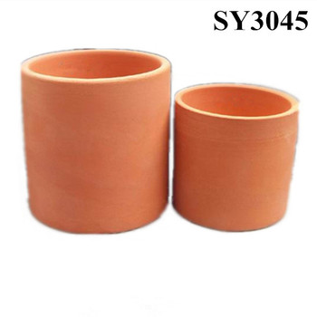 Garden Pot For Plant Mini Clay Cylinder Terracotta Pot