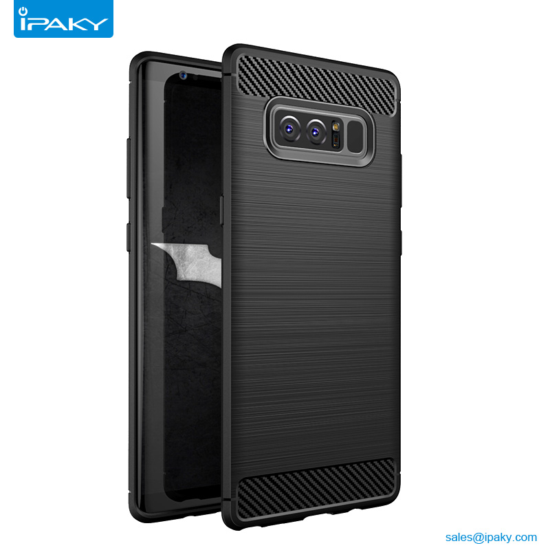 Hot Sales Slim Soft Tpu Rugged Brushed And Carbon Fiber Phone Case <strong>Manufacturing</strong> For Samsung Note 8