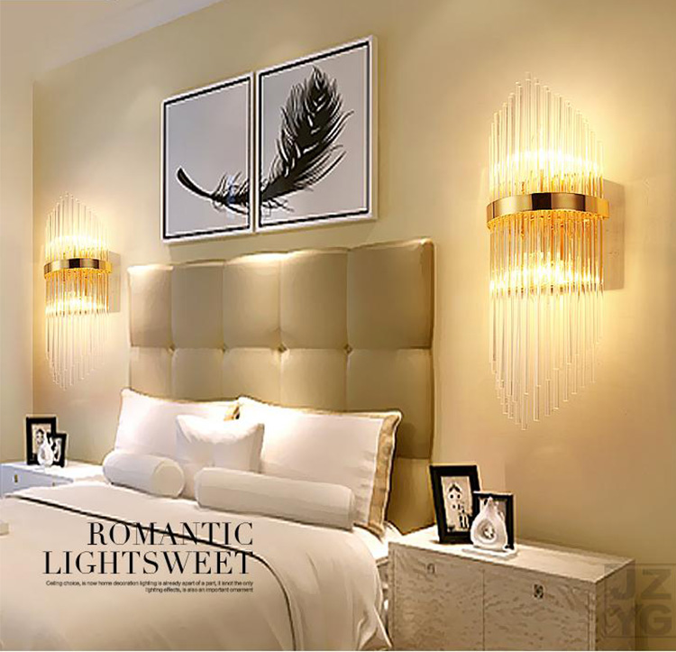 Vellman Crystal Wall Sconce Bedroom Wall Lamp With Switch Livingroom  Bedroom Led Wall Light Hotel Gold Crystal Sconce - Buy Wall Lamp,Indoor  Wall ...