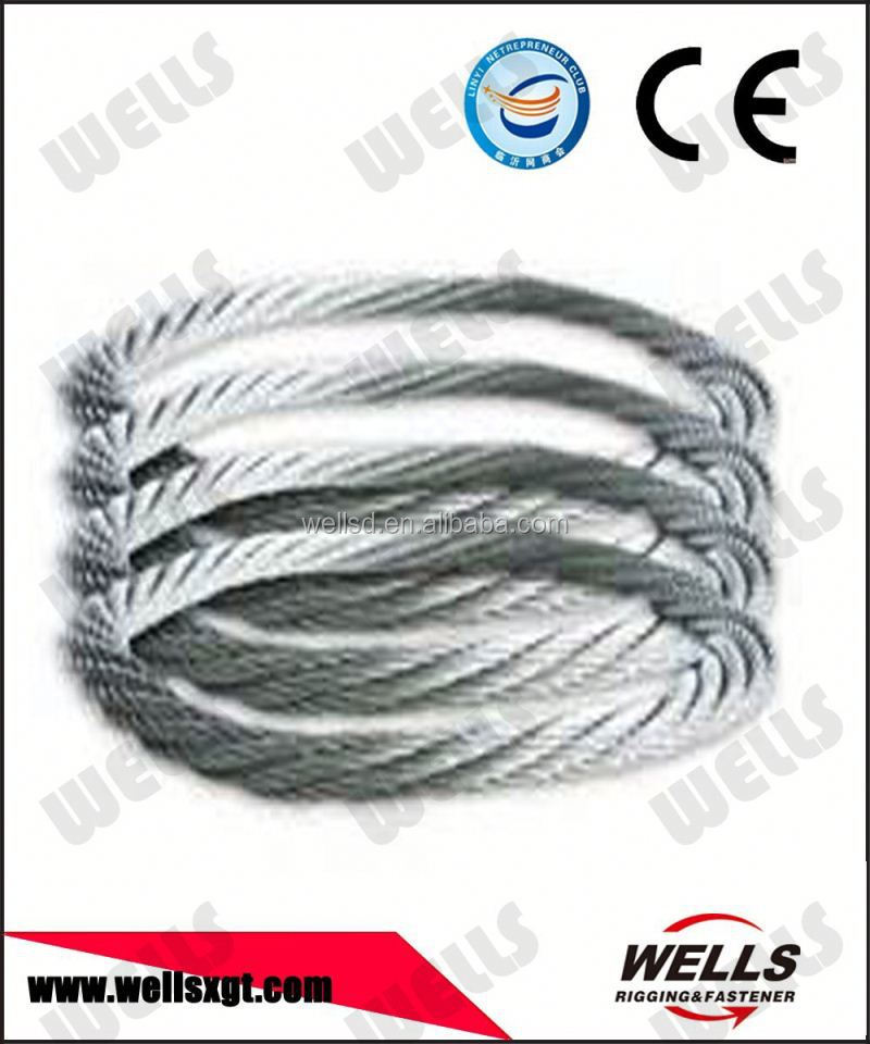 china manufacturer Ungalvanized Steel Wire cable 6x36+FC