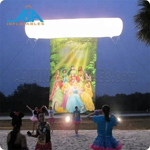 Inflatable Sky Flag with LED light / Inflatable Light Helium Banner for Outdoor Event