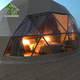 Half Sphere Luxury Hotel Geodesic Dome Shaped Tent
