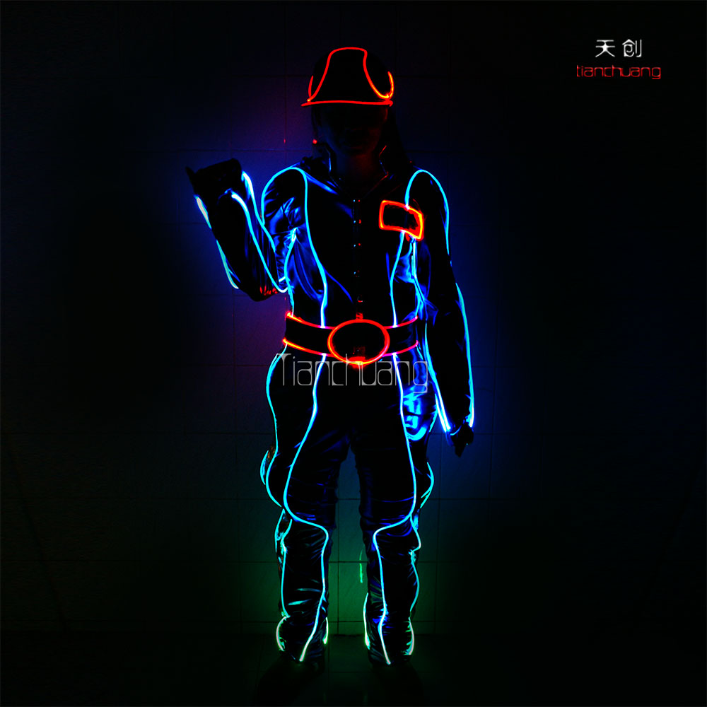 Light Up Adult Costumes,Led Kids Clothes Light,Latex Western Boys ...