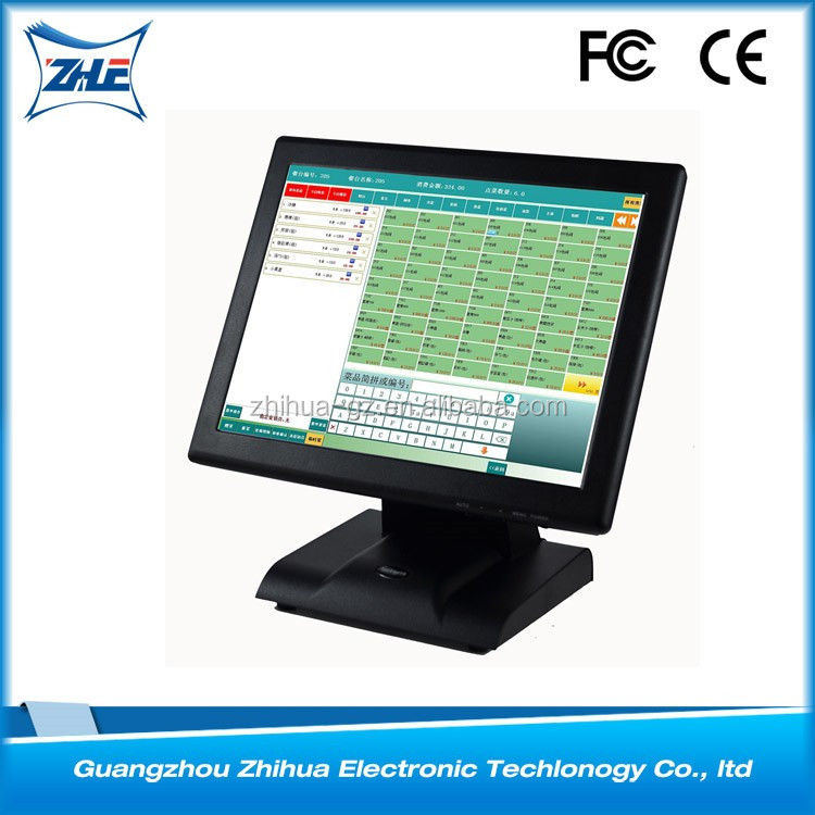 For restaurant cash register 15 inch touch screen pos monitor