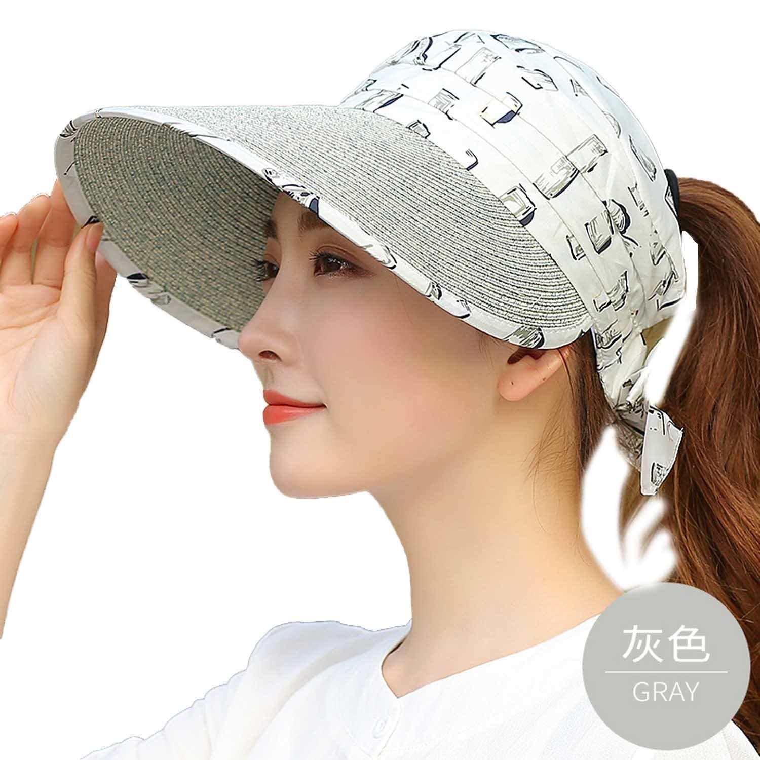 cf69df9fea1c7 Raycoon Straw Hat Women Summer Riding Windshield Sun Hat Outdoor Sunscreen Sun  Hat UV Protection Beach