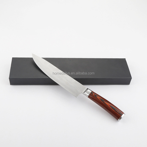Chef Knife 8 inches Kitchen Knife Ultra Sharp Stainless Steel Blade with Ergonomic Wooden Handle
