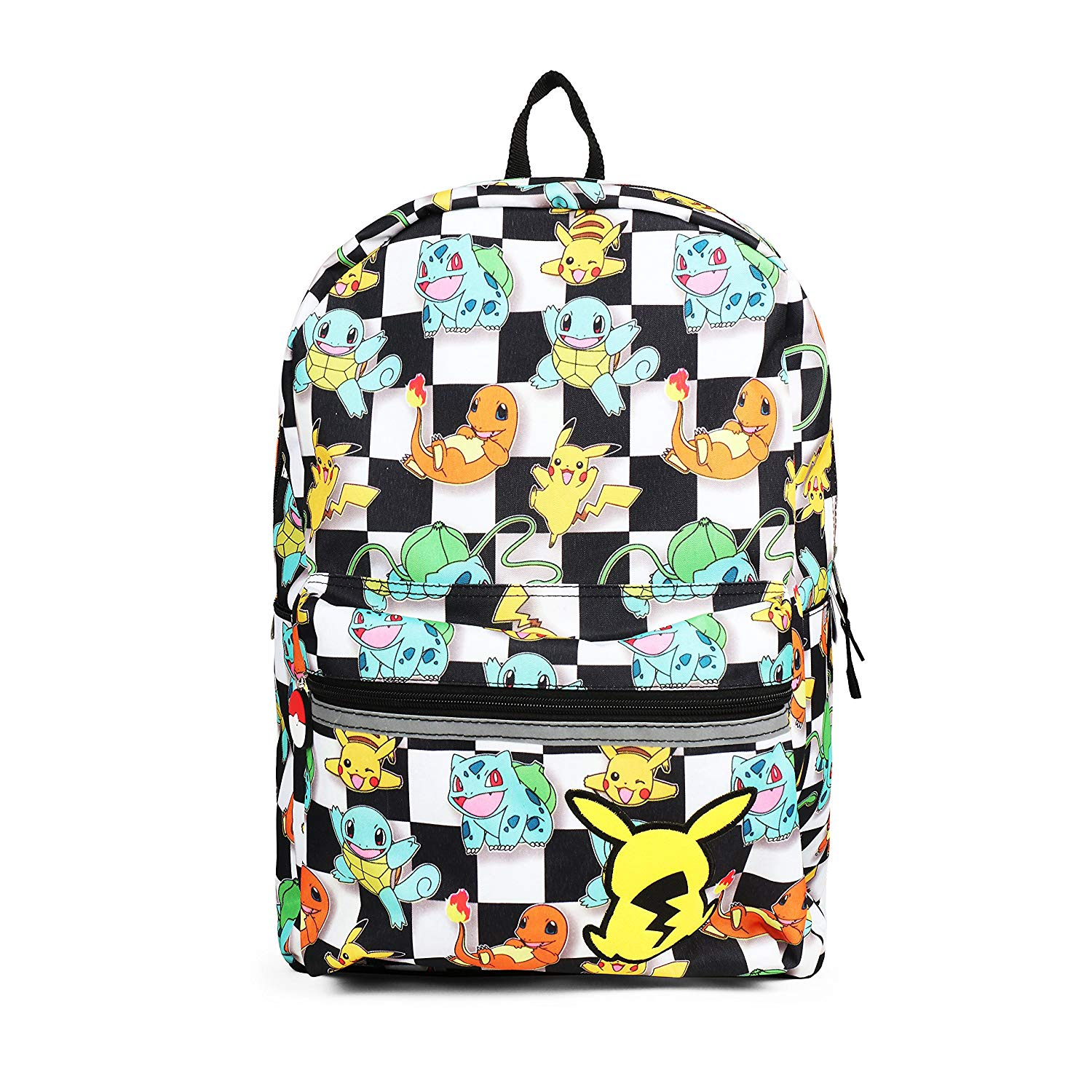 15af0cb07b4d Get Quotations · Pokemon All Over Print Checkered Characters Backpack  School Bag for Kids