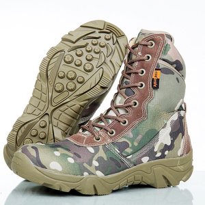 military elite and special force 8 inch name brand Camouflage combat boots