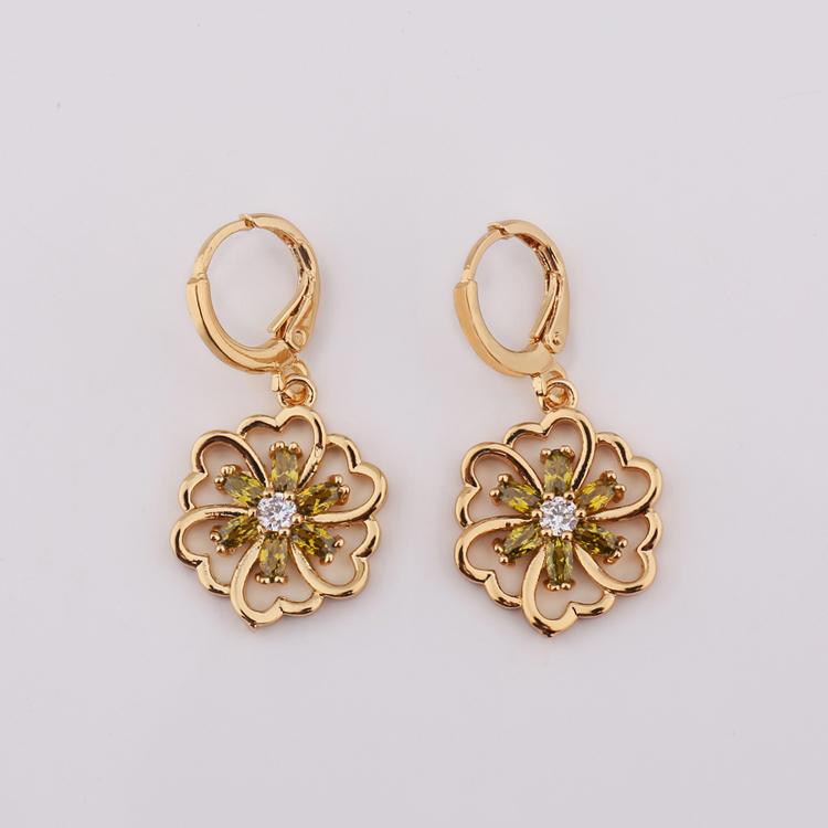New 2018 Indian 22k Gold Hanging Earring Design For Women - Buy ...
