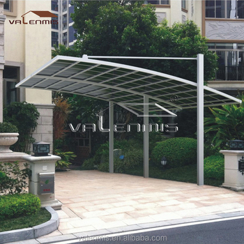 good quality outdoor aluminium sun shade carport with polycarbonate roof