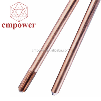 Custom Size Wholesale Galvanized Earth Tinned Copper Bonded Ground Rod