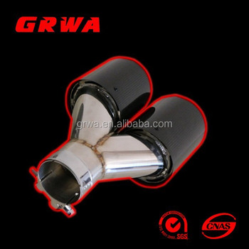 Hot sale Universal Dual Carbon Fiber Exhaust Tip