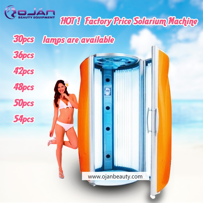 Commerical Stand Up Tanning Bed Orange Vertical Skin
