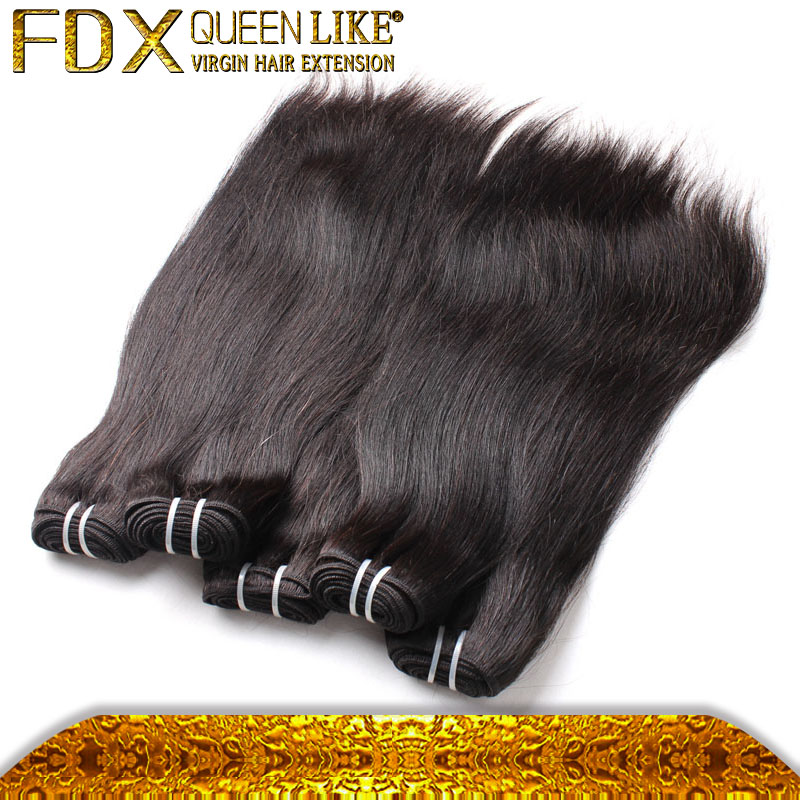 New style raw soft thick human hair bundles natural black Cambodian 18inch straigh hair