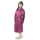 2016 Customized logo Japanese kimono wine red silk sleepwear women