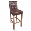 China manufacture wood leg vintage western bar stool