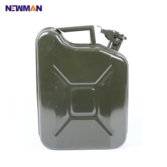 Bidon d'essence de sécurité en acier inoxydable de 20 litres