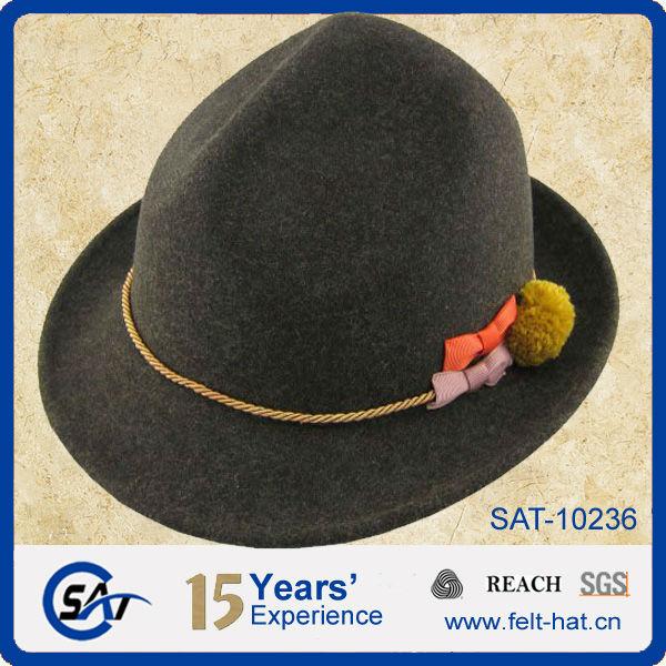 Moda 100% de fieltro de lana tradicional alemana de los alpes sombrero c2636648205