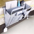 Felt Bedside Caddy Bedside Storage Organizer For Dorm Room Bedroom Hospital Bunk Beds Headboards with 4 Pockets