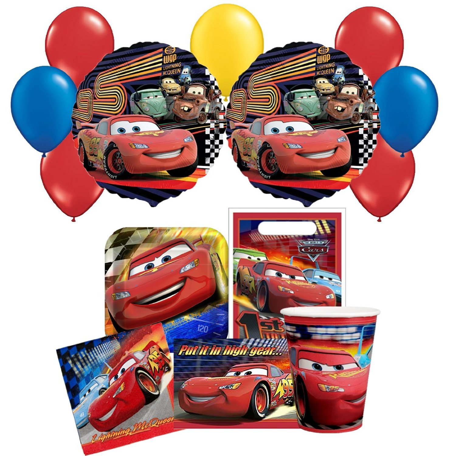 Get Quotations Disney Cars Birthday Party Pack Lunch Napkins InvitationsBalloon Platescups