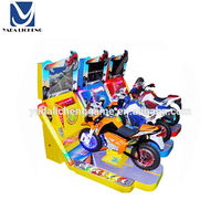 Exciting electric none stop coin operated children TT motorcycle video racing game machine