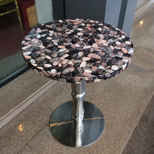 Round marble dining chair,stainless steel dining table