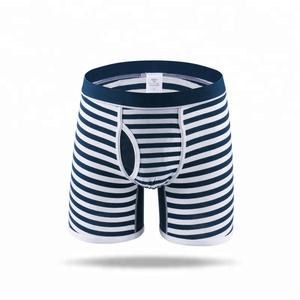 Striped Yarn Dyed Men's Underwear Panties Boxers Briefs Boxers