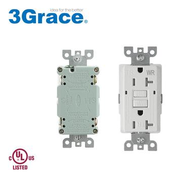 Trimone UL listed 20A GFCI leakage protection receptacle for commercial household lighting