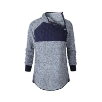 Monogram High Quality Hot Sale Women Splicing Sherpa Pullover