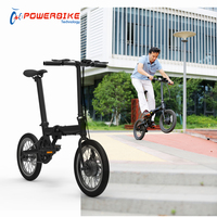 Factory direct 250w 36V portable 16 inch folding mini electric bike with CE certify