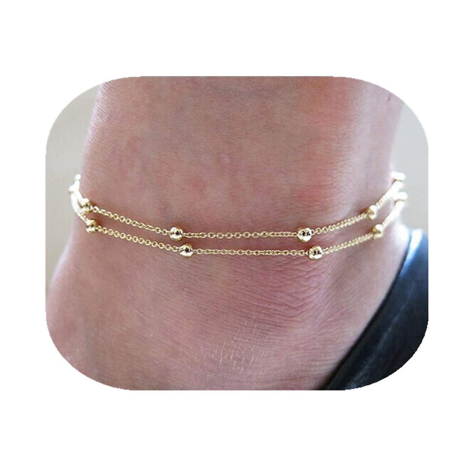 Goldplated Barefoot Beach Ankle Indian Women Bridal Wedding Chain Anklet Jewelry Modeschmuck