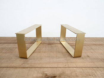 Superieur Solid Flat Brass Table Legs, Brass Table Legs