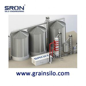 Customized Hopper Galvanized Hopper Silo for Corn Wheat Soybean Storage