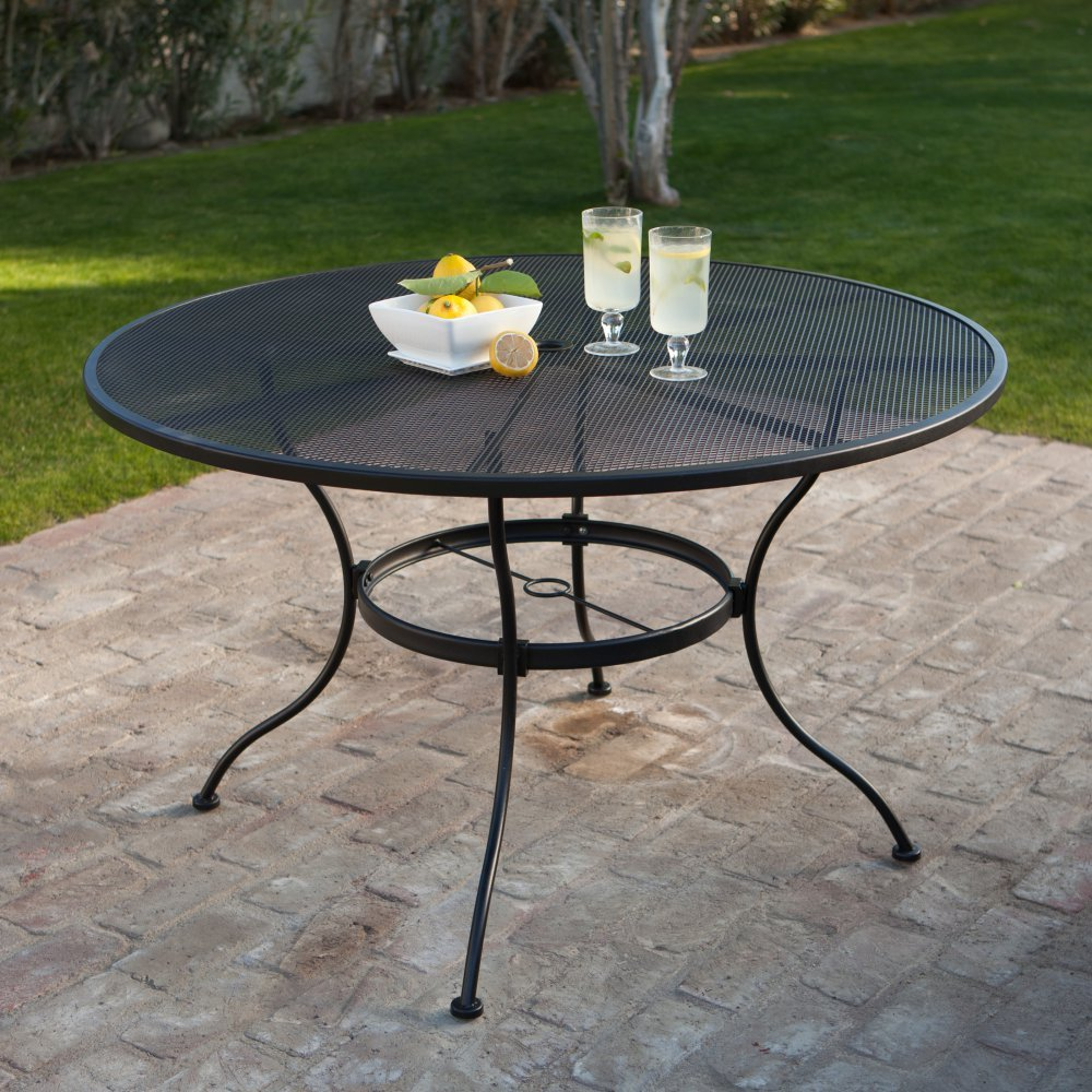 Black Wrought Iron Patio Table Find