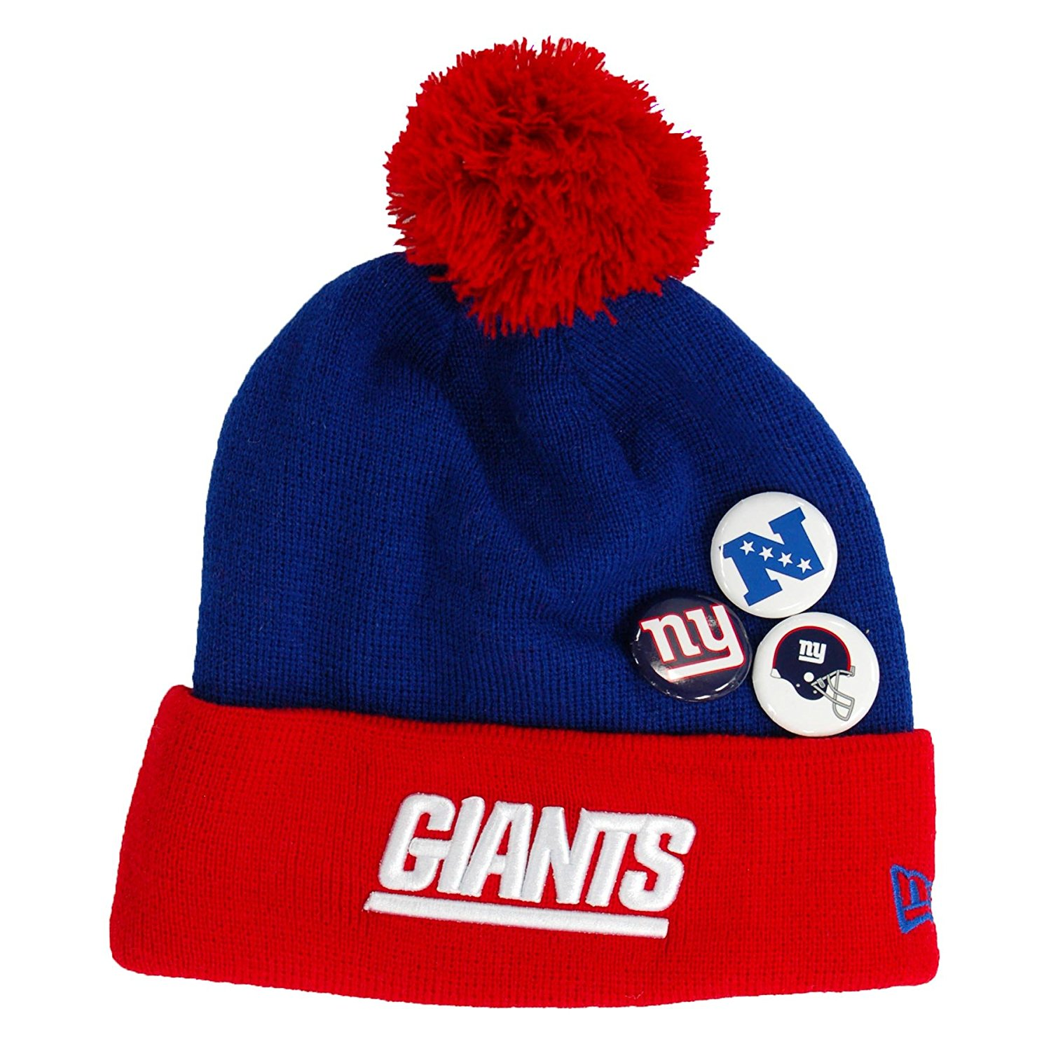 Get Quotations · New Era Nfl Button up Beanies 2013 14 (NY GIANTS) c849b1b54