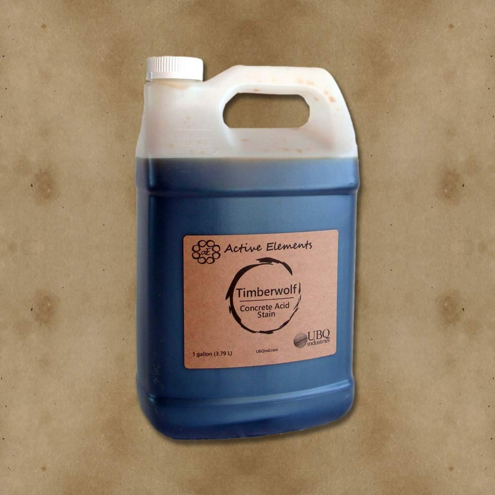 Official Concrete Acid Stain - 1 gallon - easy to use - Timberwolf(soft brown)