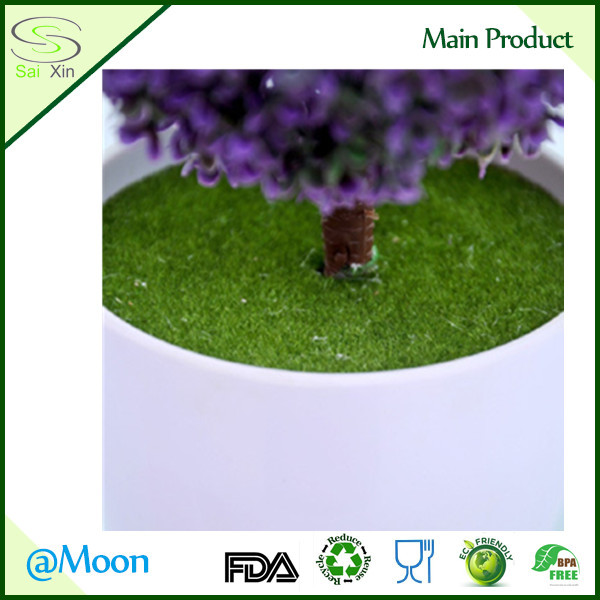 groene mos bal topiary boom decoratiesin pot