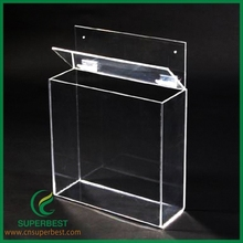 Clear Acrylic Box With Hinged Lid Clear Acrylic Box With Hinged Lid
