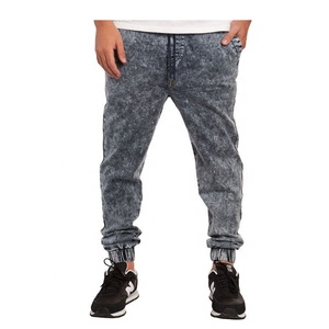 Custom Acid Wash Jogger Pants/Stone Wash Enzyme Wash Wholesale Men Jogger Sweatpants