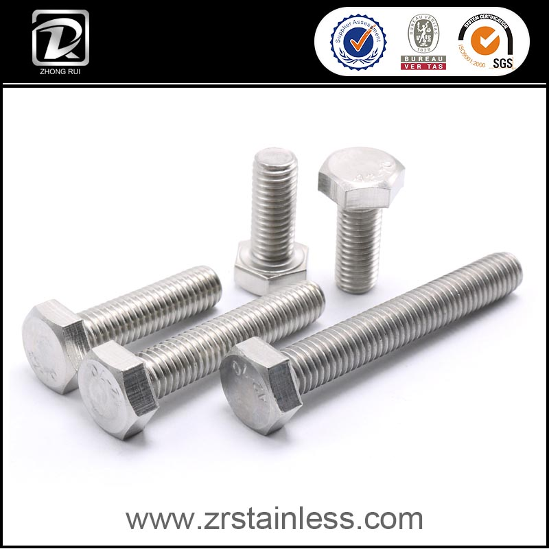 DIN933 DIN931 A2 70 Stainless Steel Hex Head Bolts